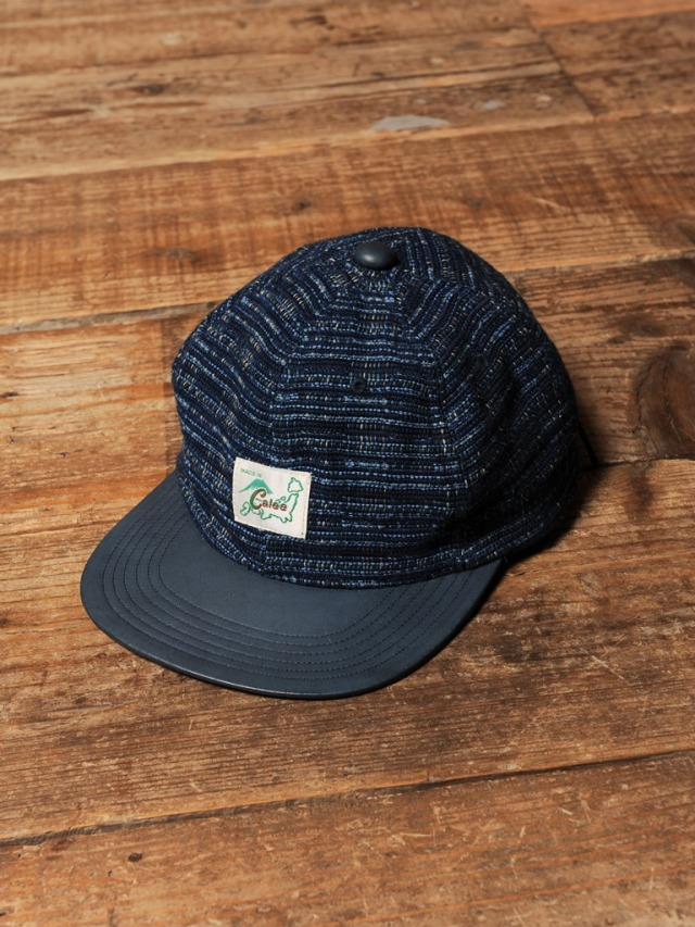 CALEE  「OLD JAPAN DIE TWO-TONE CAP 」  レザーコンビキャップ