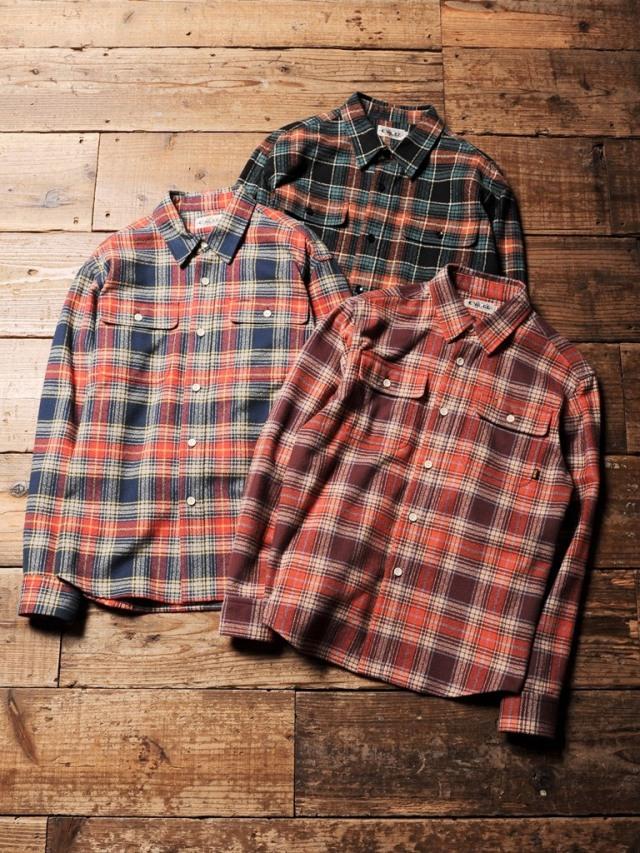 CALEE  「AMUNDSEN CHECK L/S SHIRT 」    チェックシャツ