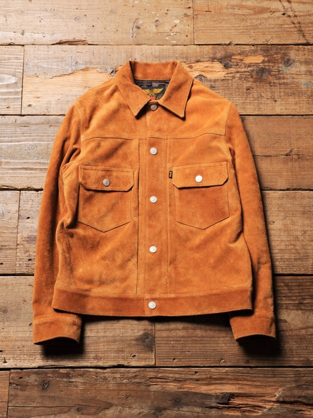 CALEE   「 2nd TYPE BUCKSKIN LEATHER JACKET 」  2ndタイプ バックスキンレザージャケット