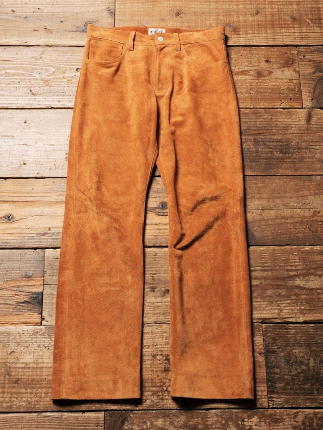 CALEE   「 BUCKSKIN FIVE POCKET LEATHER PANTS 」  バックスキンレザーパンツ