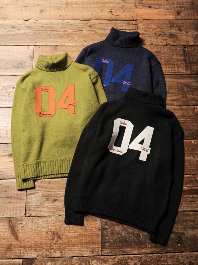 CALEE  「TURTLE NECK WAPPEN KNIT SWEATER 」 タートルネック ニットセーター
