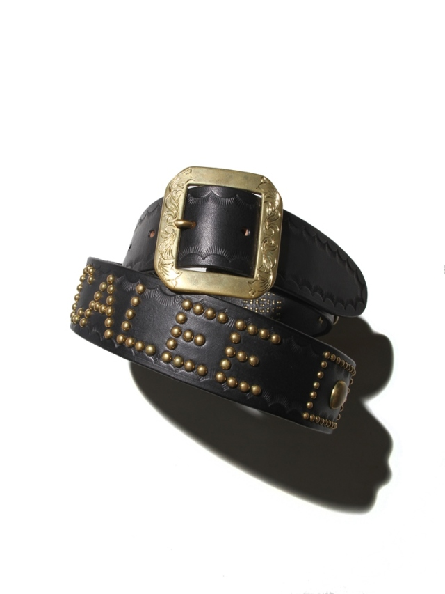 CALEE   「CALEE STUDS LEATHER BELT」 レザースタッズベルト