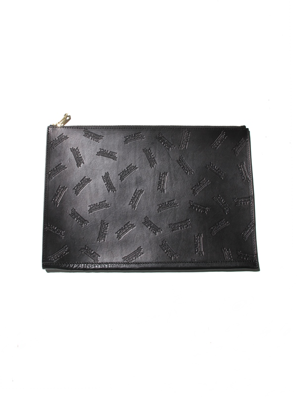CALEE  「ALLOVER EMBOSSING CLUTCH BAG 」  レザークラッチバッグ