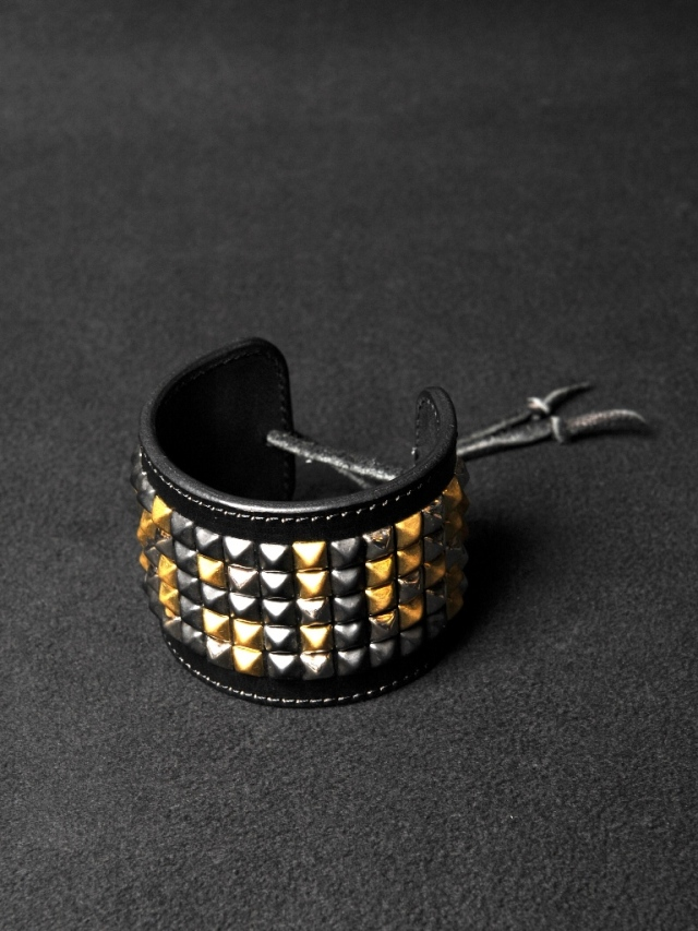 CALEE   「CALEE STUDS LEATHER BANGLE」 スタッズレザーバングル