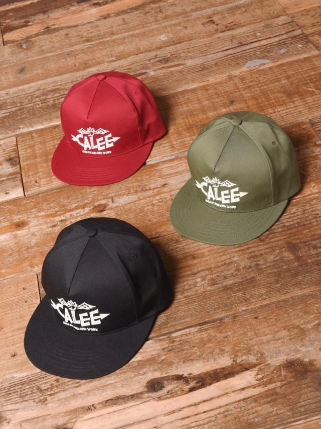 CALEE  「LOGO PRINT CAP 」 ツイルキャップ