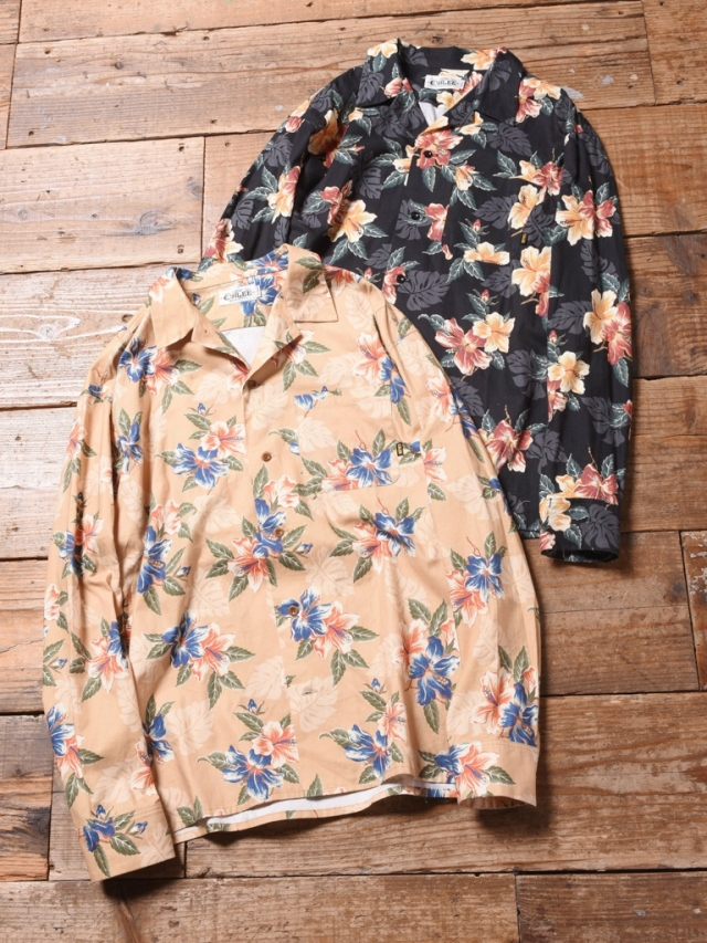 CALEE  「FLOWER PATTERN SHIRT 」 フラワーパターン オープンカラーシャツ