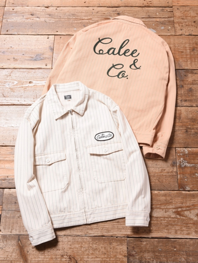 CALEE  「HERRINGBONE STRIPE WORK JACKET 」  ワークジャケット