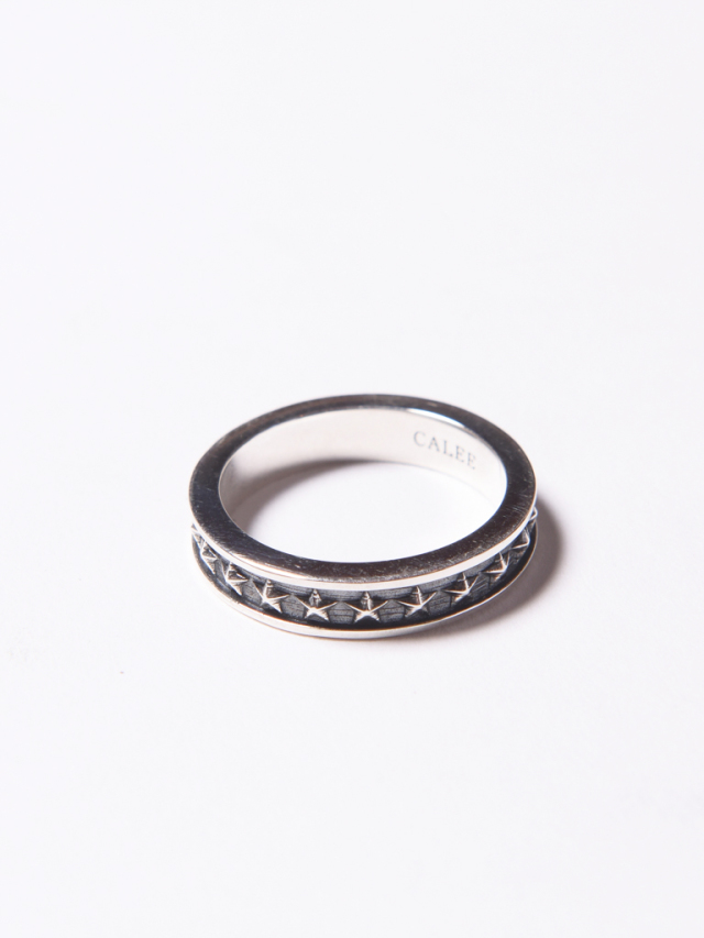 CALEE   「STAR NARROW SILVER RING」 SILVER 925製 リング