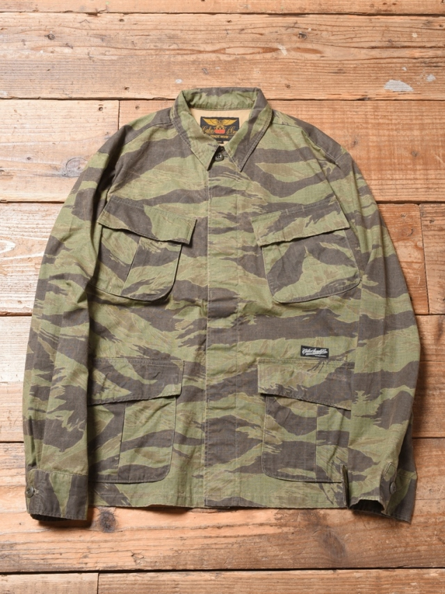 CALEE  「 TIGER CAMO MILITARY JACKET 」  ミリタリージャケット