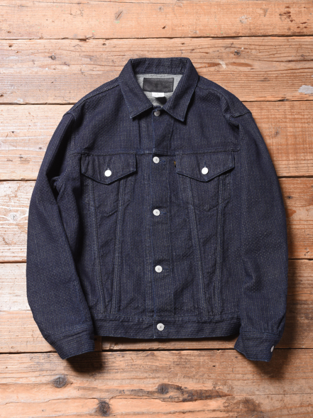 CALEE  「STITCHED JACQUARD 3rd TYPE JACKET」  刺し子デニムジャケット