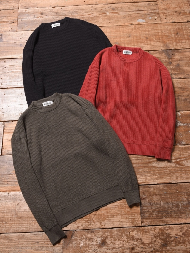 CALEE  「CREW NECK KNIT SWEATER  」 クルーネックセーター