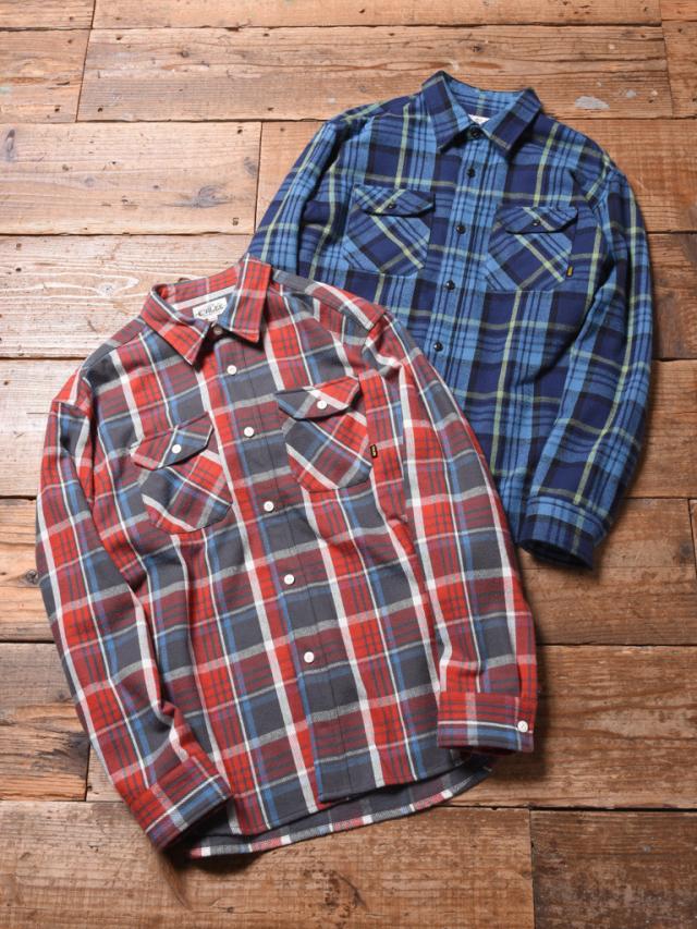 CALEE  「L/S HEAVY NEL CHECK SHIRT」 ヘビーネルチェックシャツ