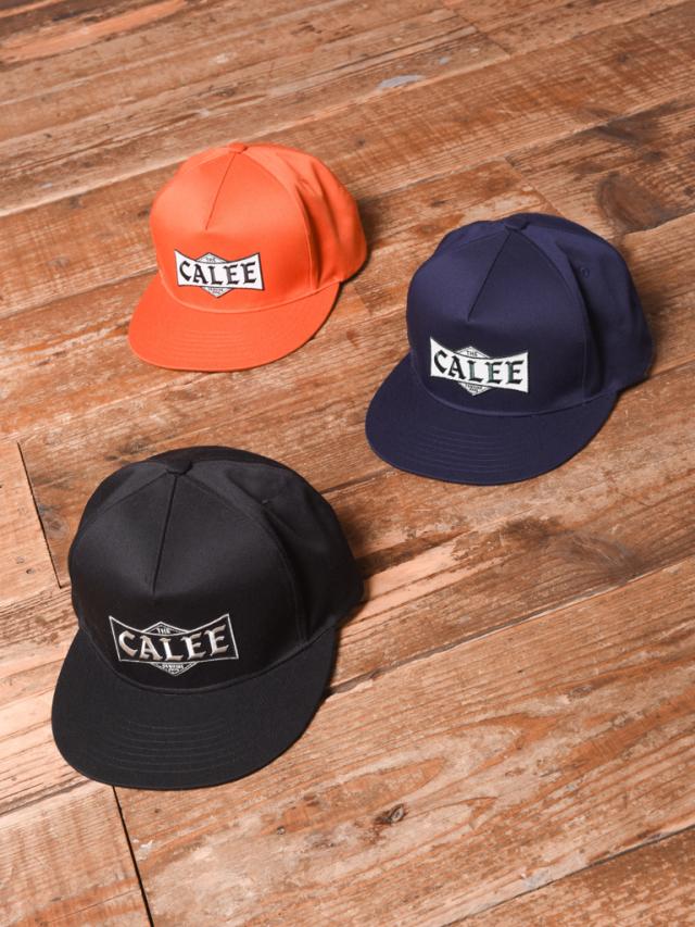 CALEE  「T/C TWILL WAPPEN CAP」 ツイルワッペンキャップ