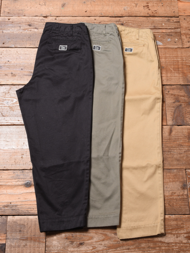 CALEE  「WASHED WEST POINT WIDE CHINO PANTS」 ワイドチノパンツ