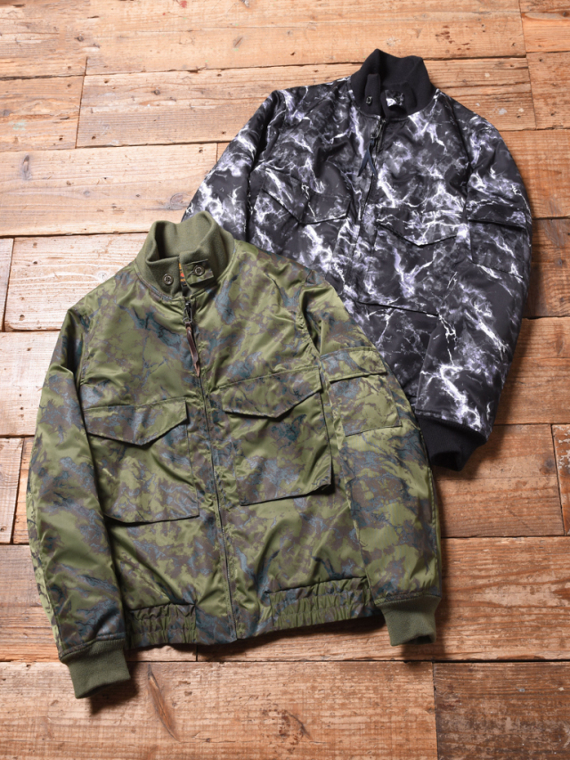 CALEE  「MARBLE PATTERN WEP JACKET 」   フライトジャケット