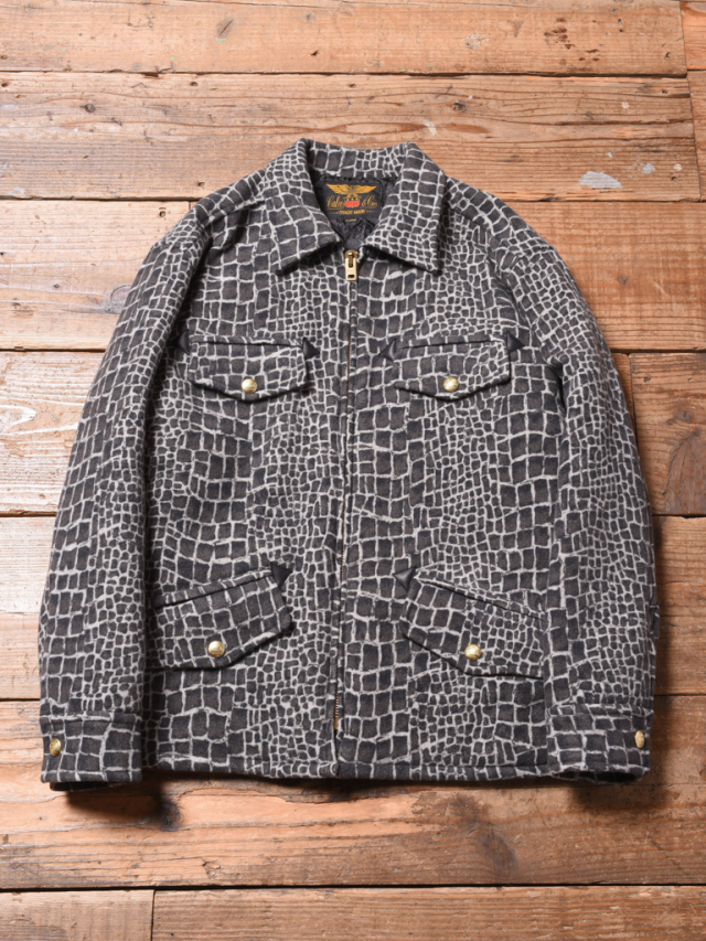 CALEE  「CROCODILE PATTERN SPORTS TYPE WOOL JACKET 」  ウールメルトン スポーツジャケット