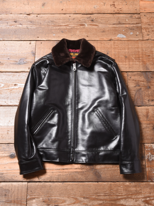 CALEE    「SPORTS TYPE HORSE LEATHER JACKET」 ホースハイドレザージャケット