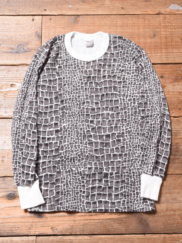 CALEE   「CROCODILE PRINT CREW NECK L/S THERMAL 」 クルーネックサーマル