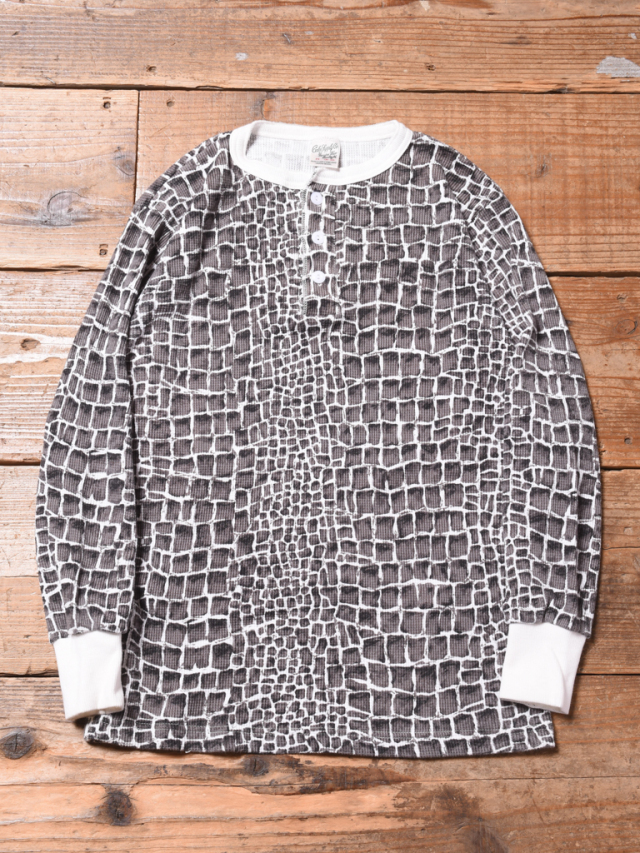 CALEE   「CROCODILE PRINT HENLEY NECK L/S THERMAL 」 ヘンリーネックサーマル