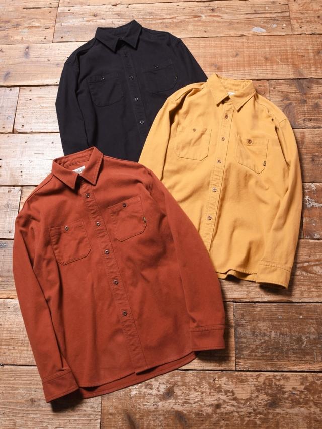 CALEE  「COTTON NEL PLANE L/S  SHIRT 」 コットンネルシャツ