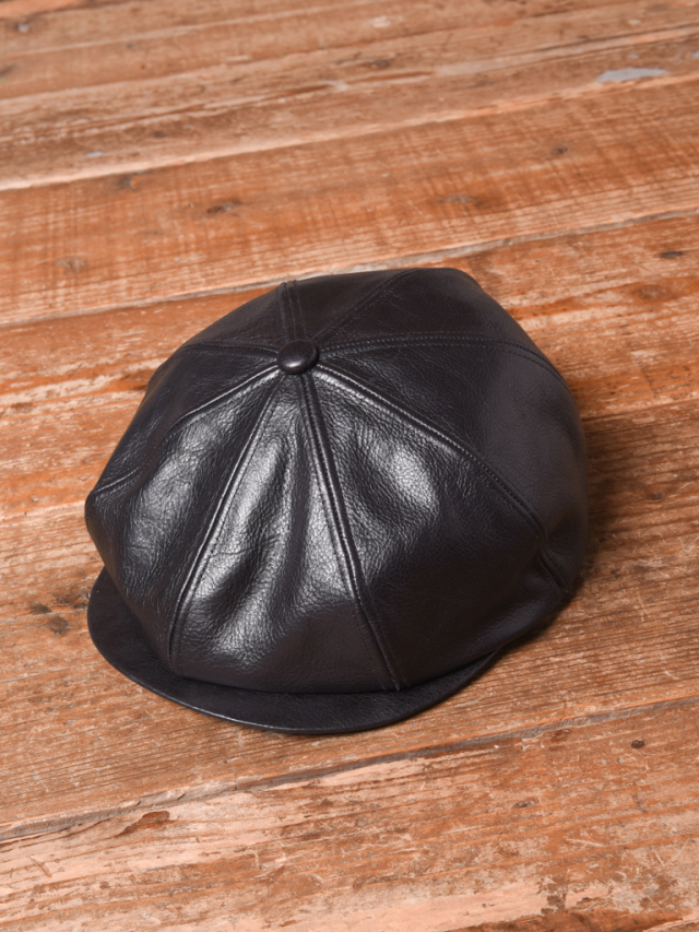 CALEE  「LEATHER CASQUETTE」 レザーキャスケット