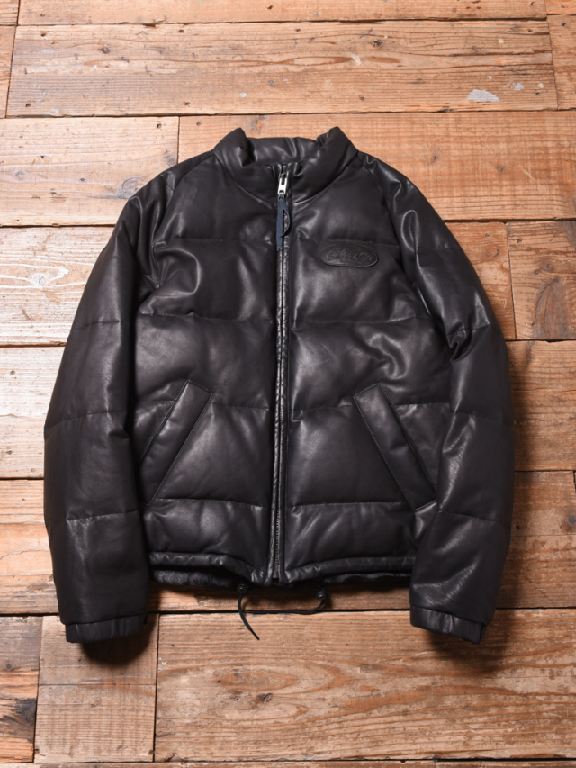 CALEE  「LEATHER DOWN JACKET」   レザーダウンジャケット