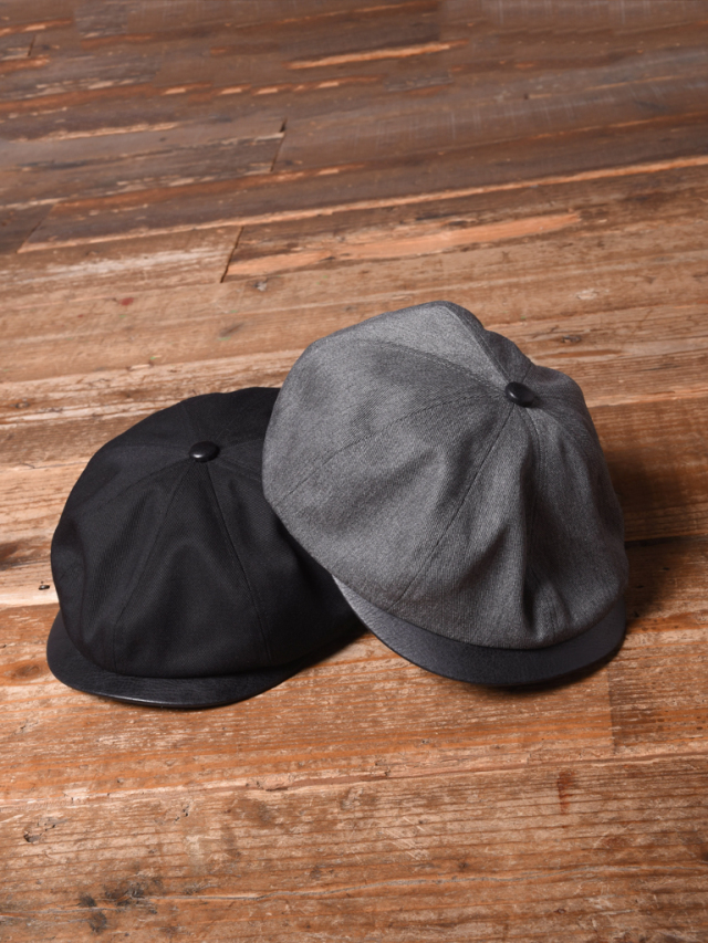 CALEE  「TWILL / LEATHER CASQUETTE」 レザーコンビキャスケット