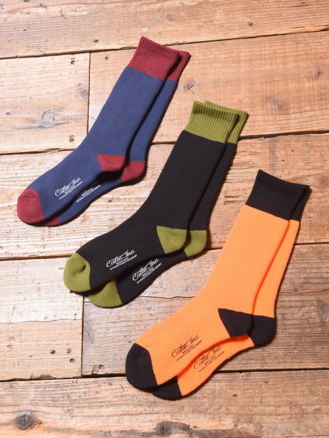 CALEE  「TWO TONE LONG SOCKS 」 ロングソックス