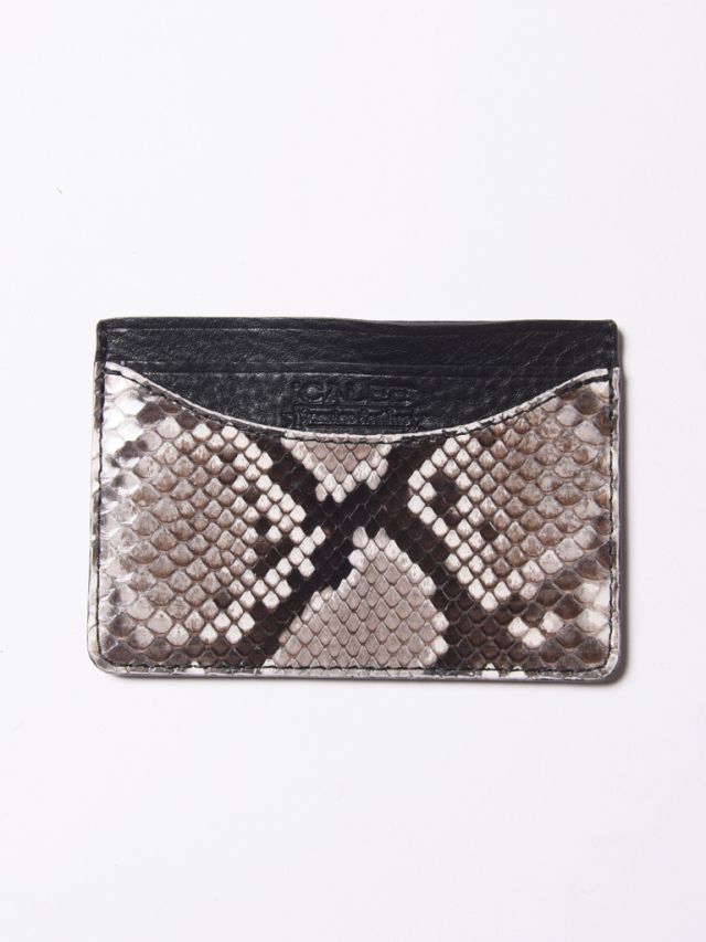 CALEE  「PYTHON LEATHER CARD CASE」 パイソンレザーカードケース