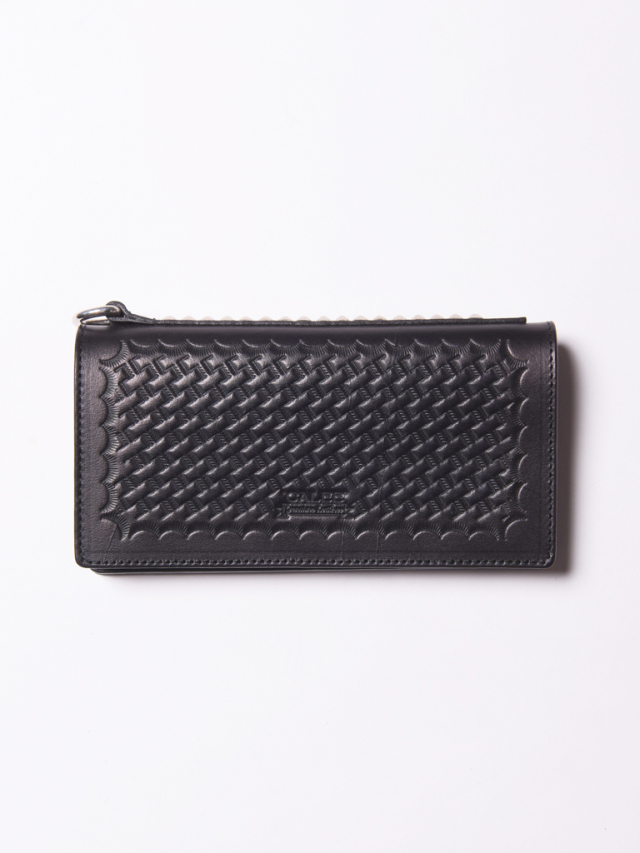 CALEE  「EMBOSSING LEATHER WALLET 」 レザーロングウォレット