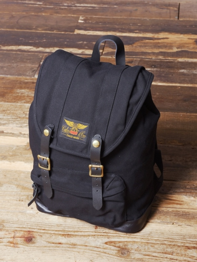 CALEE  「CANVAS×LEATHER BACKPACK  」  キャンバス×レザー バックパック