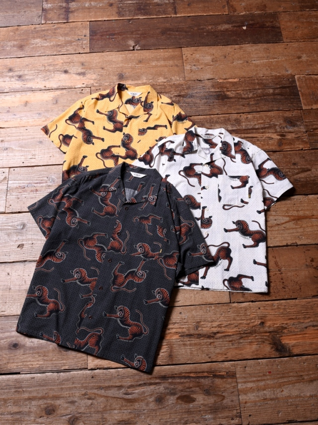 CALEE× Miho Murakami  「ALLOVER TIGER PATTERN S/S SHIRT 」    オープンカラーシャツ