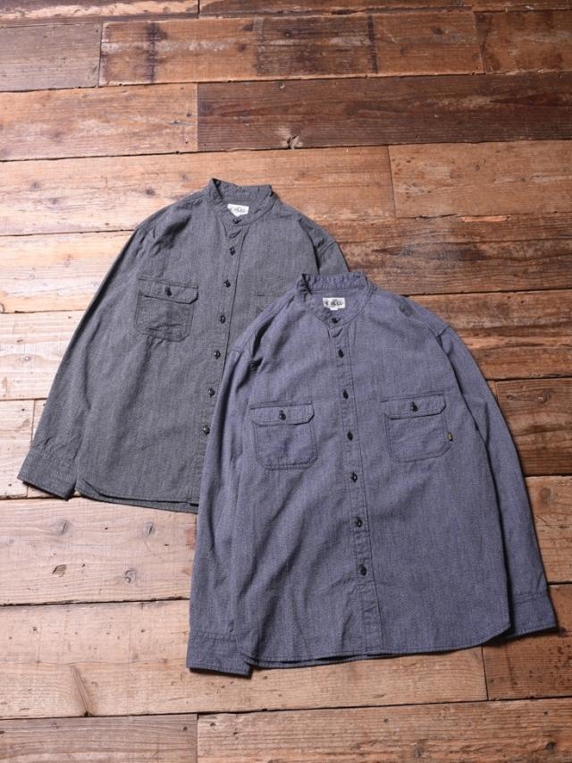 CALEE  「BAND COLLAR WORK SHIRT 」 バンドカラー ワークシャツ