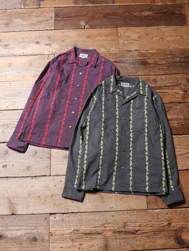 CALEE  「 JACQUARD STRIPE L/S SHIRT 」    ジャガードストライプシャツ