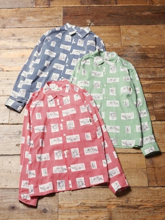 CALEE  「 WESTERN STRIPE L/S SHIRT 」    ストライプシャツ