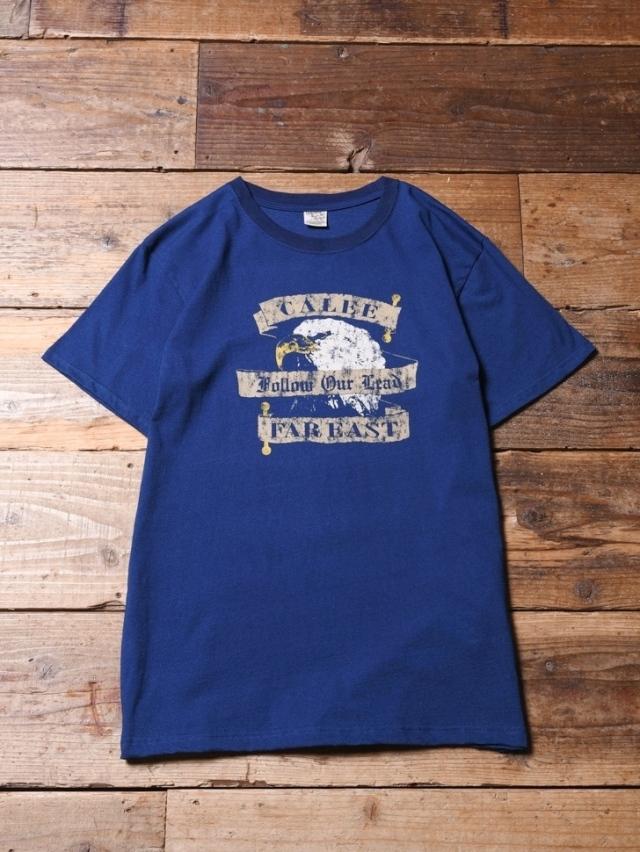 CALEE   「INDIGO BLUE EAGLE T-SHIRT」 インディゴ染め プリントティーシャツ