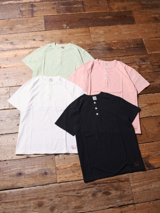 CALEE  「 HENLEY NECK T-SHIRT 」    ヘンリーネックティーシャツ