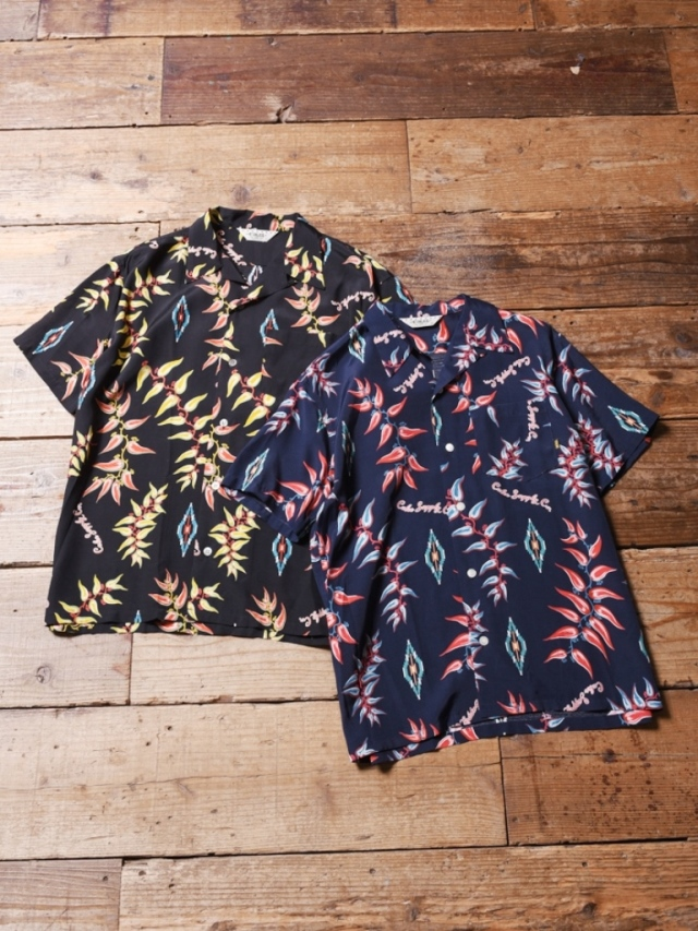 CALEE  「 RAYON NATIVE ALOHA PATTERN S/S SHIRT 」   レーヨンアロハシャツ