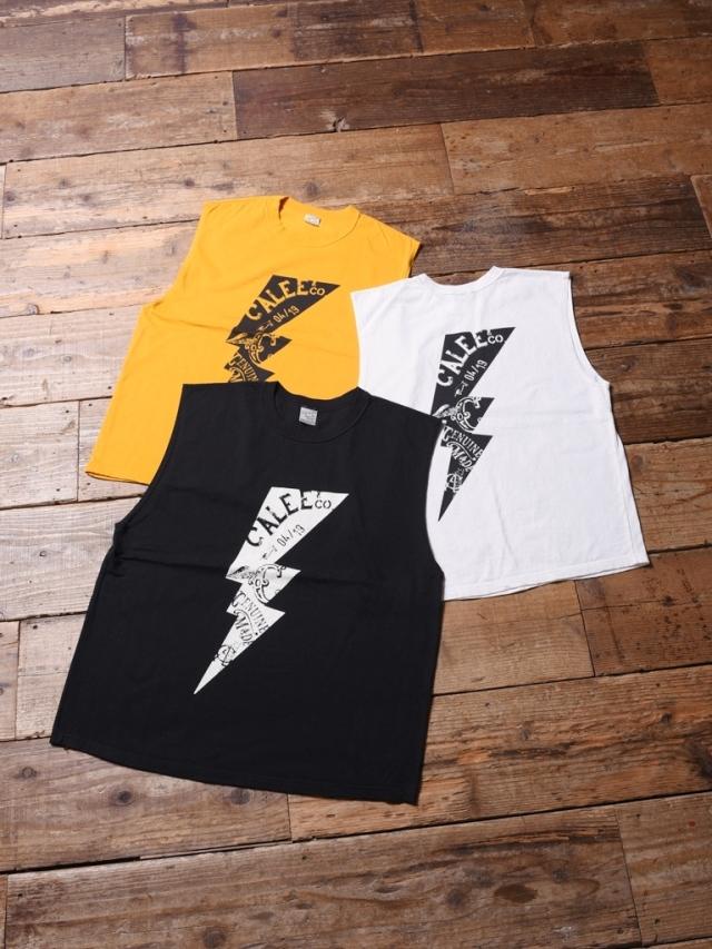 CALEE   「 LIGHTNING NO SLEEV T-SHIRT 」    ノースリーブティーシャツ