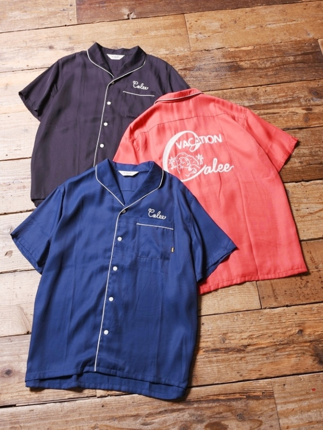 CALEE  「 RAYON PIPING EMBROIDERY S/S SHIRT 」   レーヨンシャツ