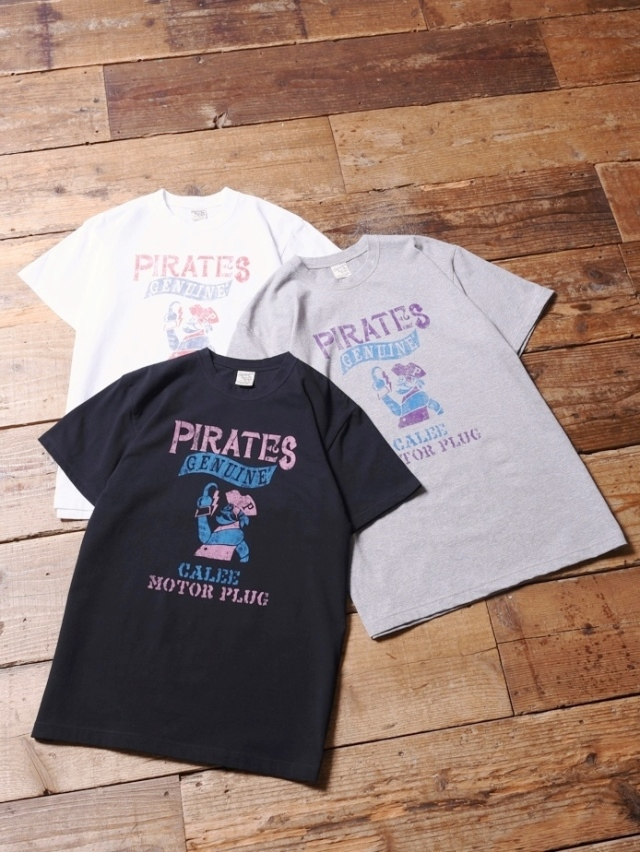 CALEE  「PIRATES T-SHIRT 」 プリントティーシャツ