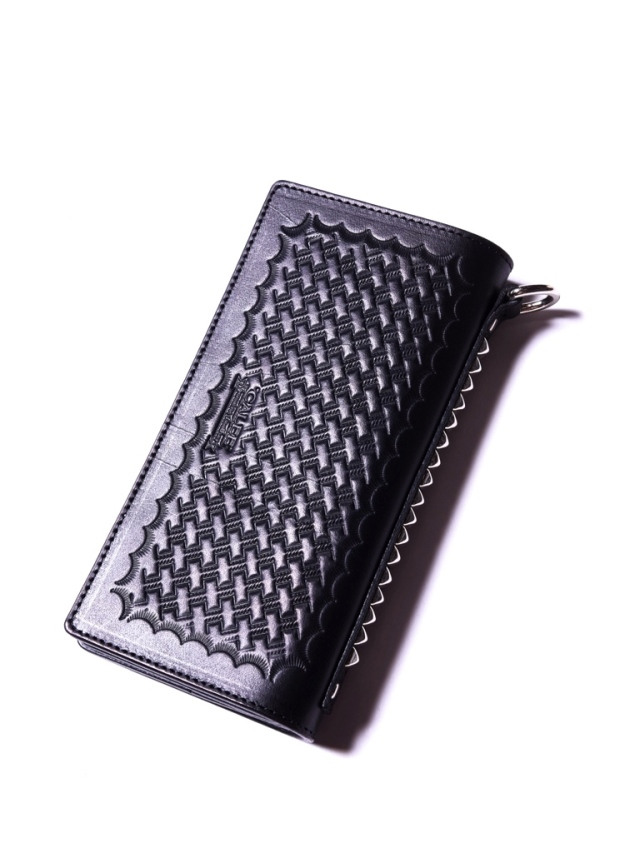 CALEE  「EMBOSSING LEATHER LONG WALLET 」 レザーロングウォレット
