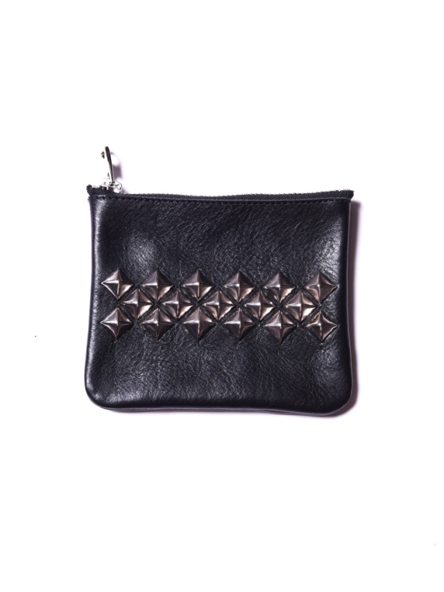 CALEE    「STUDS LEATHER PURSE」  レザーパース