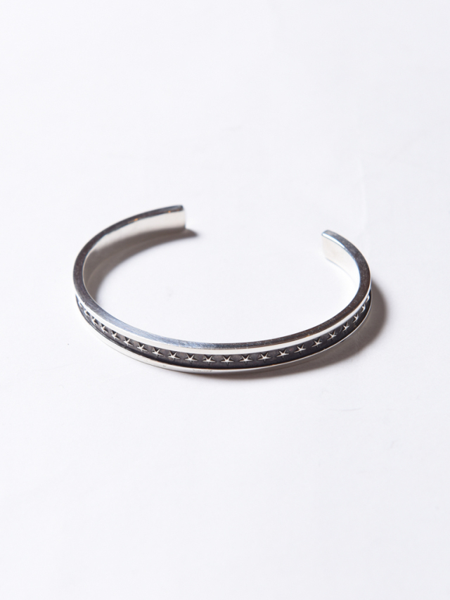 CALEE   「STAR NARROW SILVER BANGLE」 SILVER 925製 バングル