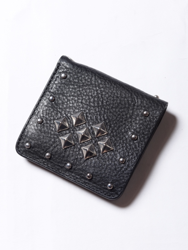 CALEE  「LEATHER STUDS SHORT WALLET」  レザースタッズショートウォレット