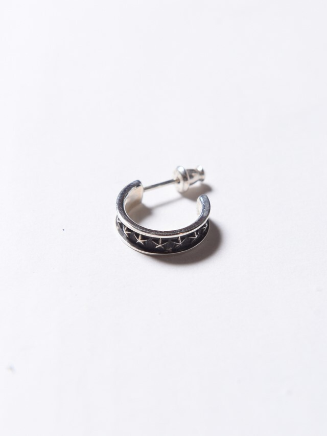 CALEE   「STAR NARROW ROLL PIERCE」 SILVER 925製 ピアス