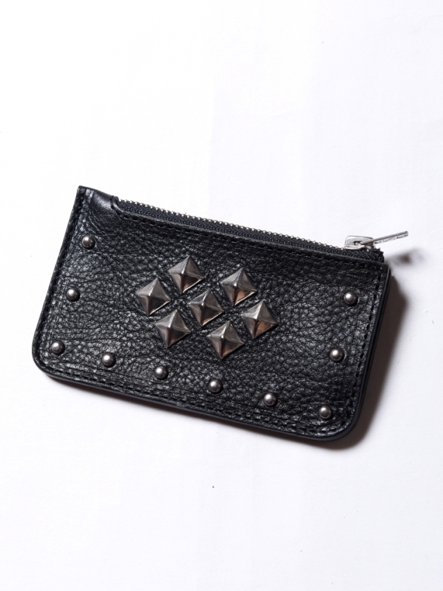 CALEE  「LEATHER STUDS COIN CASE」  レザースタッズコインケース
