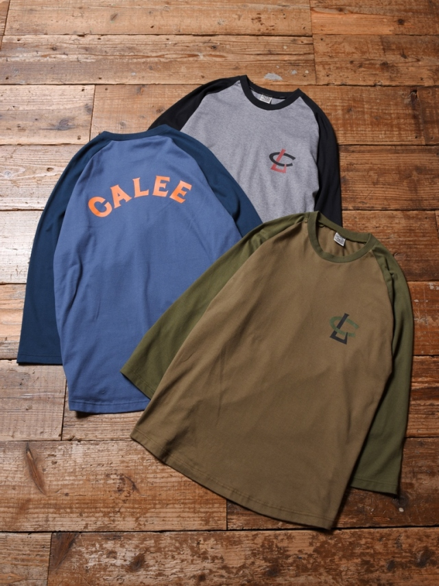 CALEE   「3/4 SLEEVE RAGLAN T-SHIRT」   ラグラン7分丈ティーシャツ