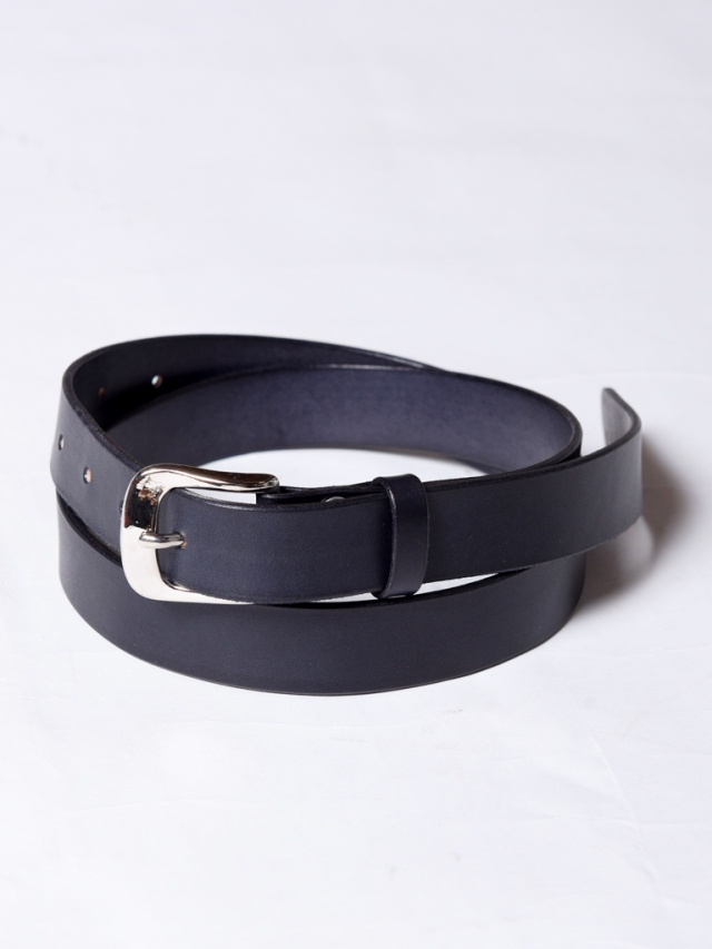 CALEE   「PLANE LEATHER  NARROW BELT」  レザーナローベルト