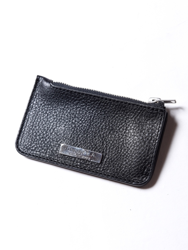 CALEE  「SLIVER PLATE LEATHER COIN CASE」  レザーコインケース